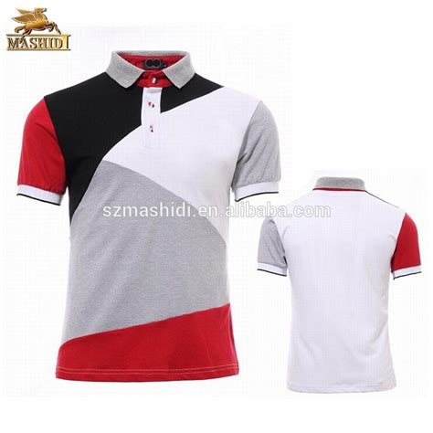 T Shirt Combi Colour high quality embroidery colors combination custom polo shirt design of polo t shirt
