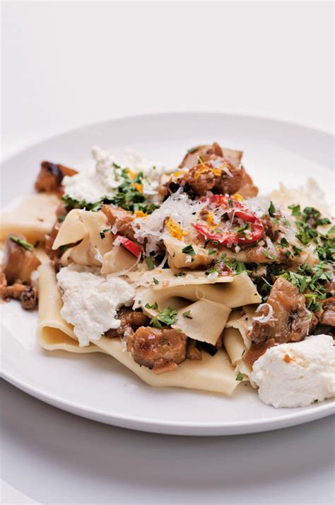 pappardelle pasta recipe vegetarian pappardelle and eggplant ragu recipe with fresh ricotta