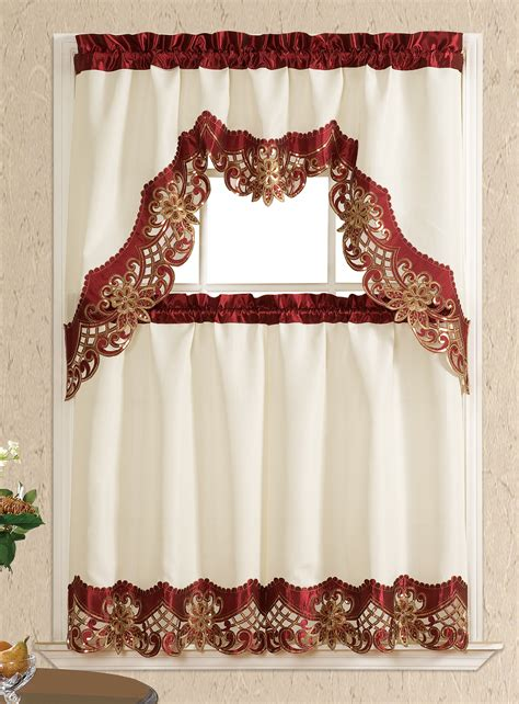 Kitchen Curtains Sets Promo 3 Kitchen Curtain Set
