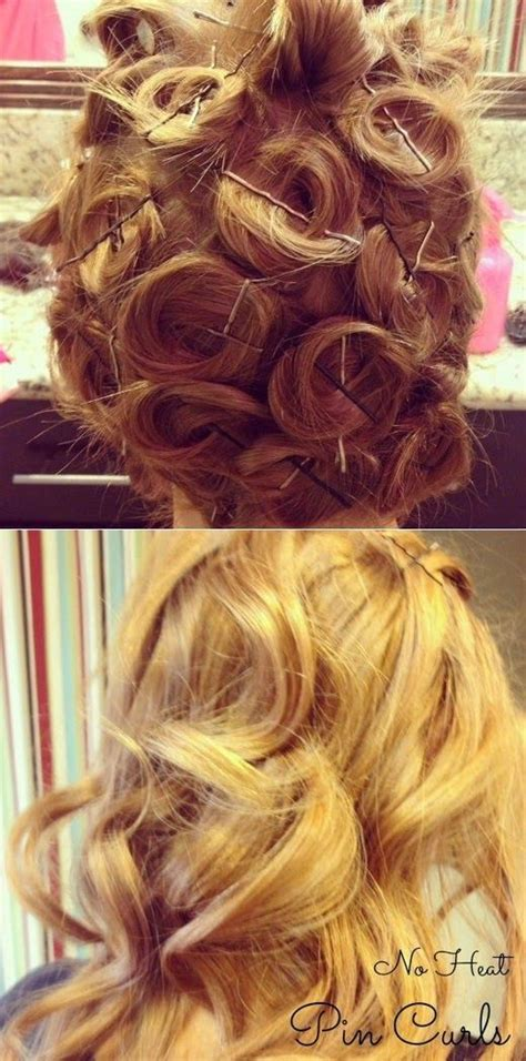 curly hairstyles using bobby pins how to beauty heatless curls using bobby pins hair