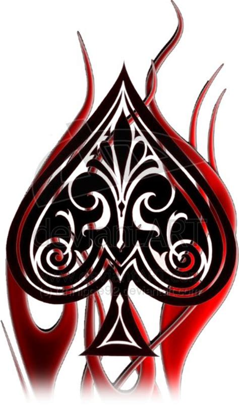queen of spade tattoo of spades design spade and by
