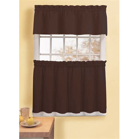 walmart com kitchen curtains better homes and gardens indigo tangier 99 percent light
