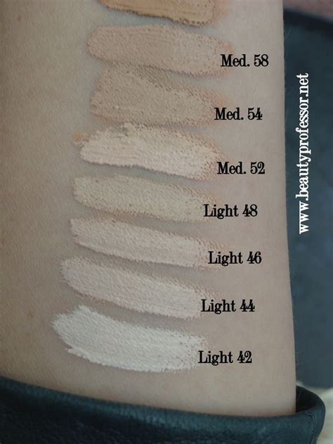 tattoo foundation d lock it foundation swatches of all