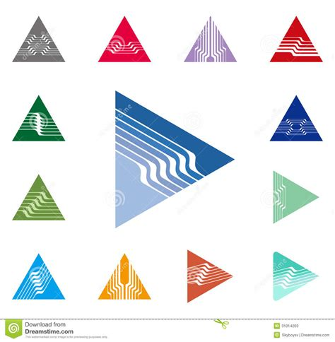 triangle pattern logo abstract arrow logo triangle sign icon vector design