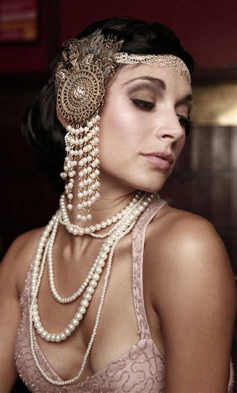 hairstyles for women in 1920s gatsby hairstyle with headpiece google search hair