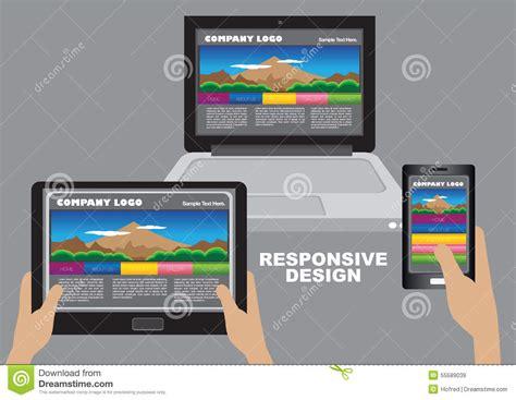 responsive design layout download responsive web design layout design stock vector image