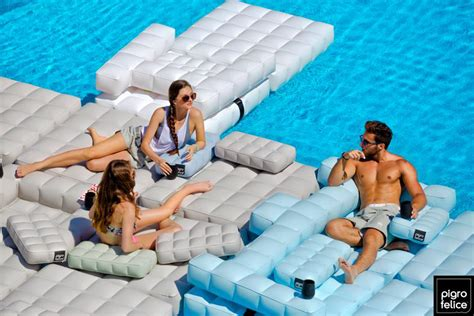modul air pool patio furniture the awesomer