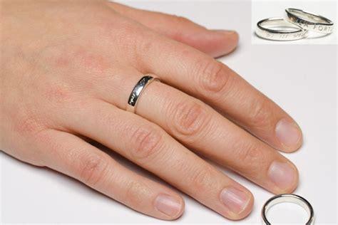 Ring Gravur by Klassischer Silberring Goldschnuppe De