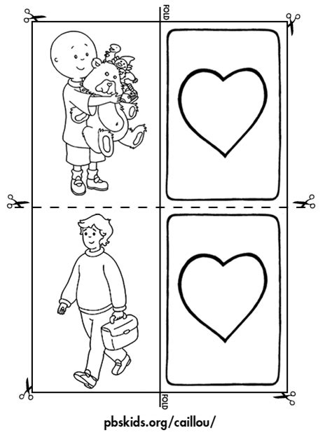 memory card template caillou activities memory activity card template 1