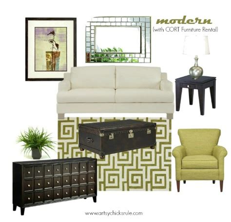 decorating ideas 1 room 3 ways with cort furniture