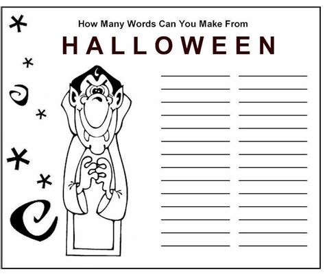 printable halloween puzzle games halloween word game