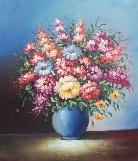 Vase Of Flowers Paintings by Flowers In Vase Paintings Vases Sale
