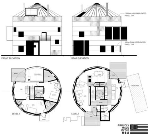 silo house plans house in a can recycles grain silos into housing treehugger