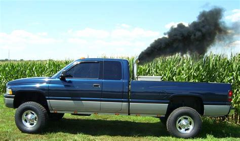 lively dodge ram 2500 cummins turbo diesel with stacks