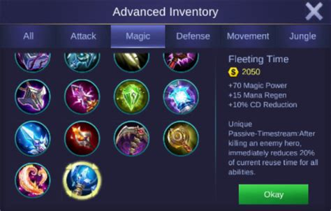 mobile legends items guide high damage build item mobile legends fourty