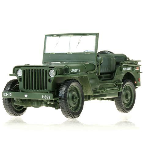 Jeep Vilis Alloy Model 1 18 Tactical Jeep Vintage World War