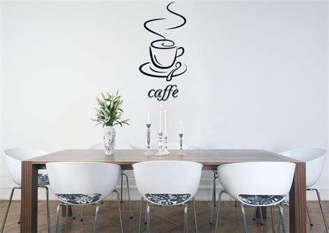 Dining Room Vinyl Wall Dinnig Room With Caffe Vinyl Wall Decal Ideas Interior