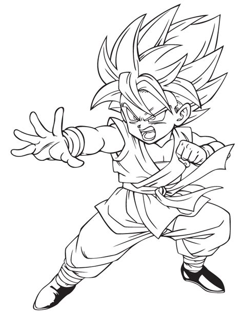 dbz vegeta coloring coloring pages