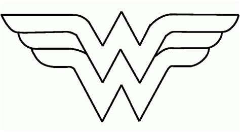 how to draw wonder woman logo coloring home
