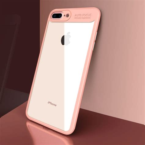 New Iphone 8 Plus Baby Skin Ultra Thin Casing Cover cafele for iphone 8 plus 7 plus ultra thin tpu pc dropproof protective cover pink