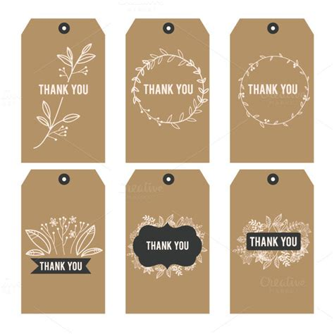Thank You Card Tag Template by Suitcase Tags Free Printable 187 Designtube Creative