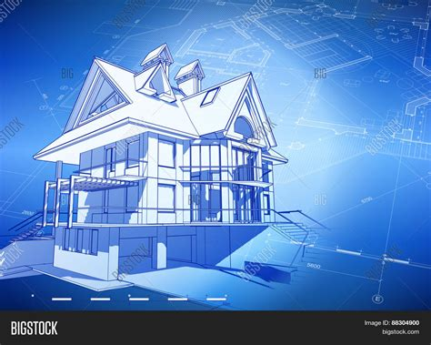 blueprint home design architecture design blueprint 3d vector photo bigstock