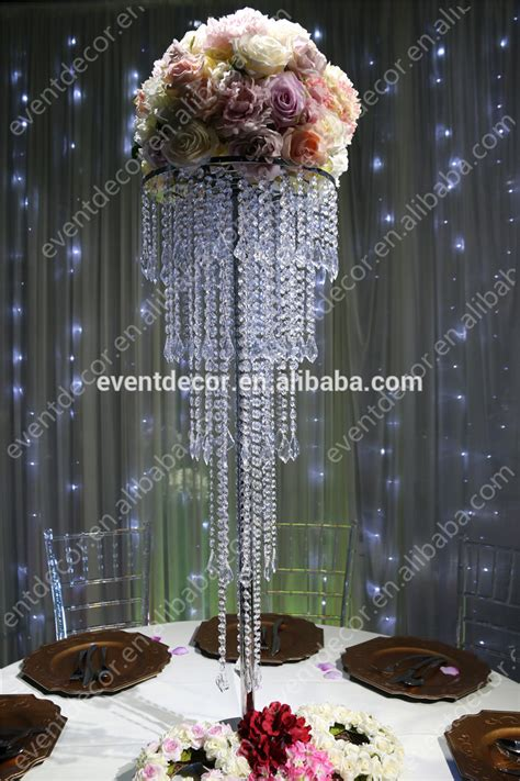 5 Tiers Crystal Centerpieces For Wedding Table/wholesale Crystal Wedding Centerpiece For