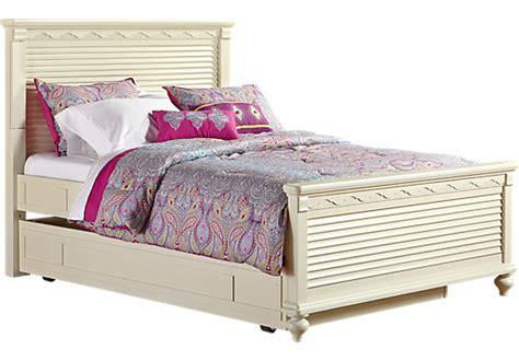 girls trundle bedroom sets emma s escape white wash gray 4 pc full panel bed w trundle