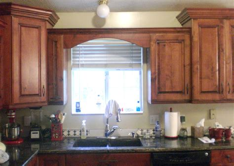 kitchen cabinet valances wood valance over kitchen sink for the house pinterest