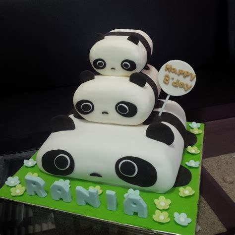 jual kue ultah panda harga murah jakarta oleh khena cake
