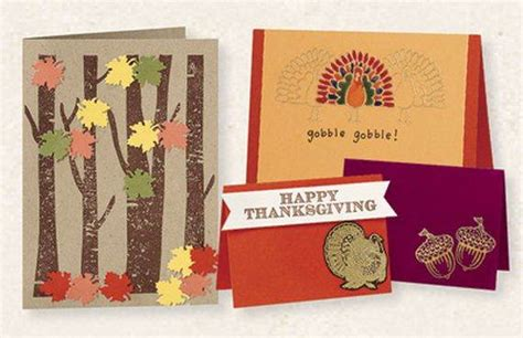 Handmade Thanksgiving Card Ideas - different ideas for thanksgiving cards family