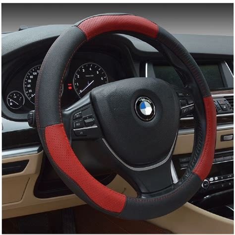 Interior Truck Accessories by Ledaut 15inch Leather Steering Wheel Cover Automotive