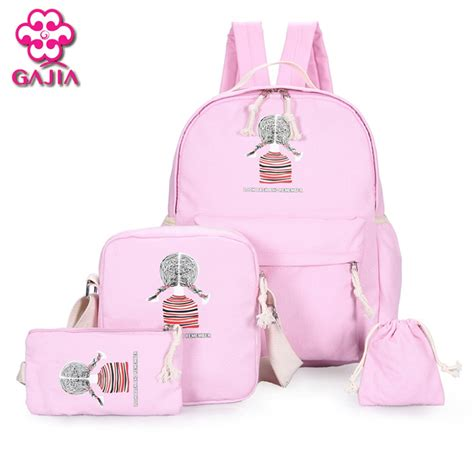 Backpack 3 Student Book 2016 new fashion student book sets bag backpack high quality canvas preppy style