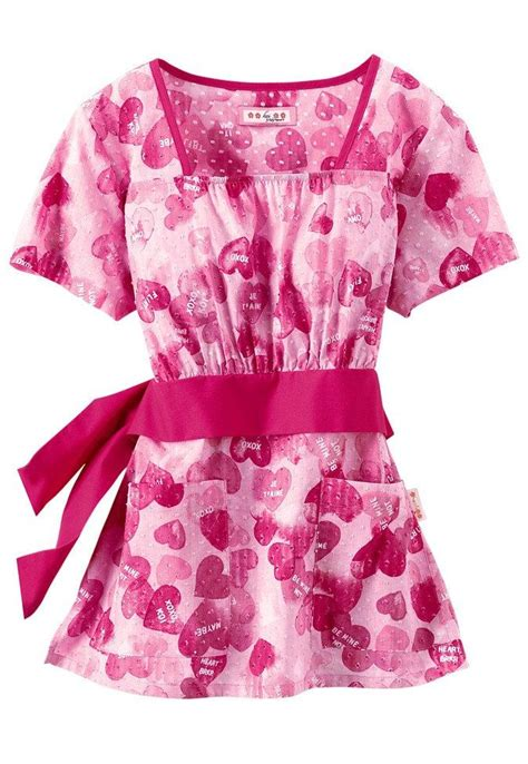 valentines day scrubs koi be mine empire waist print scrub top scrubs