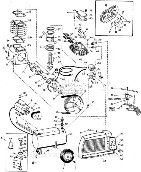 cbell hausfeld vt4200 parts diagram for air compressor parts
