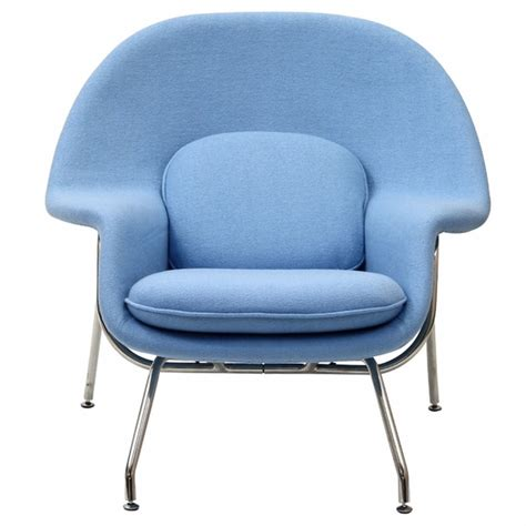 baby chair and ottoman womb lounge chair and ottoman wool baby blue