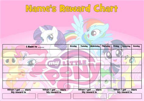 printable reward charts my little pony photo collection my little pony behavior