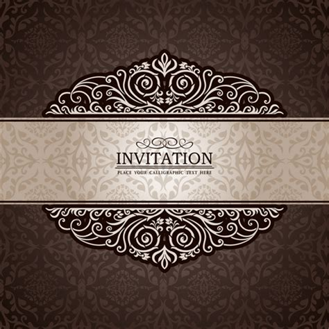 images invitations set of luxury invitation background elements vector 03