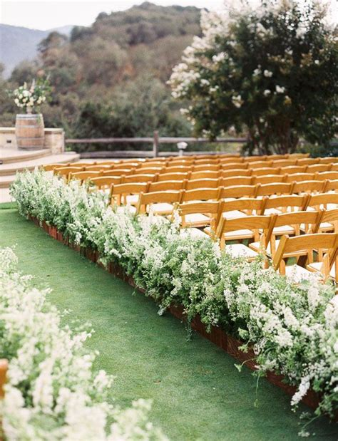 wedding inspiration an outdoor ceremony aisle wedding bells 2332 best wedding ceremony aisle reception decor images