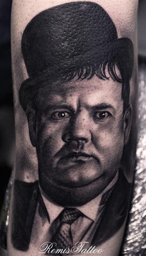Tattoo Portrait Quebec   laurel and hardy portrait tattoo by remistattoo on deviantart