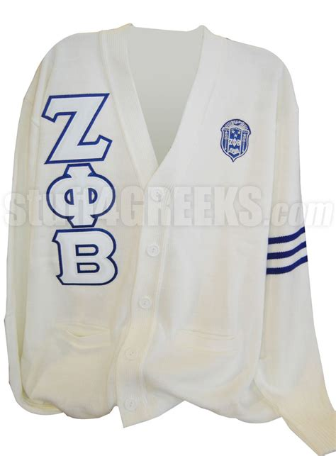 Lettering Cardigan zeta phi beta varsity cardigan with letters and crest item