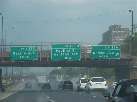 map of chicago kansas city expressway interstate 290 illinois eisenhower expressway ckc illinois