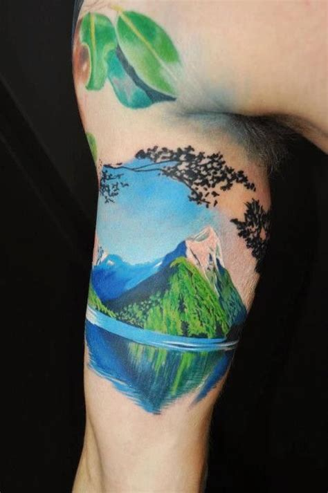 watercolor tattoo niagara lake and mountain best ideas designs