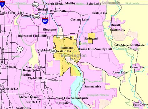 maps redmond redmond washington map