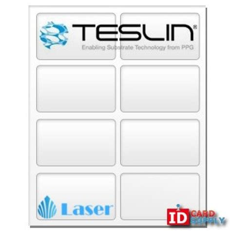 teslin id card template teslin 174 synthetic paper 8 5 quot x 11 quot perforated 8 up laser