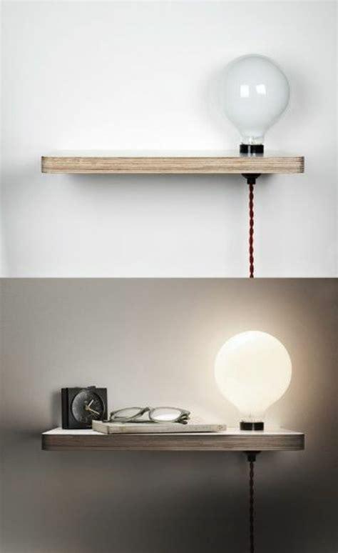 etagere table de nuit installer une table de nuit suspendue pr 232 s de lit