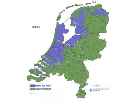 netherlands map below sea level expedition earth water in the netherlands