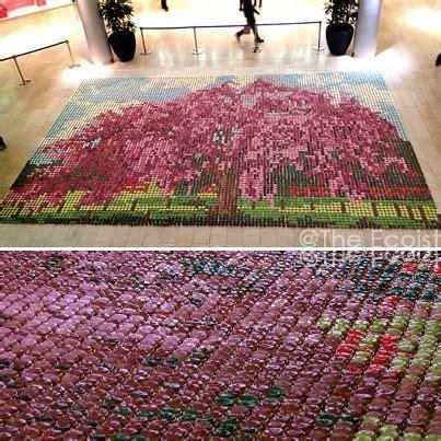 tappeto con tappi di sughero tappeto realizzato con tappi di sughero caps crafts
