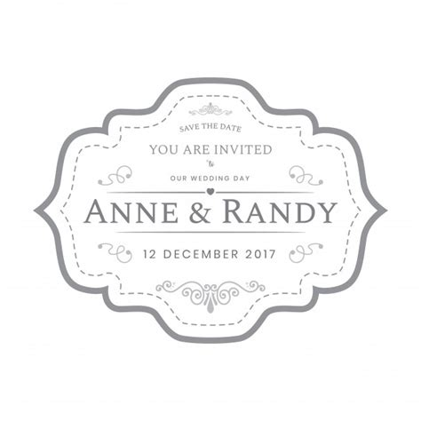 wedding labels template vintage wedding labels template in white color vector