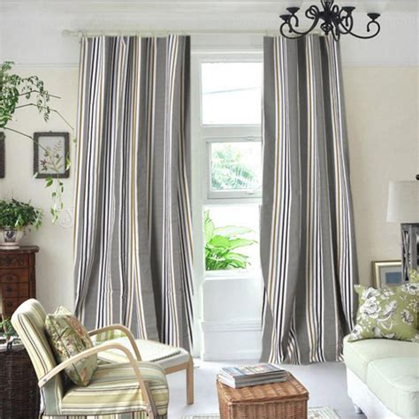Striped Blackout Curtains Gray Striped Curtains Gray Curtains Cafe Curtains White Black Striped Washed Linen Grey